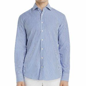 Dylan Gray Mens Shirt Blue Button Down Bengal Stri